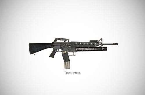 """El rifle Colt AR-15 con un lanzador de granadas M203 añadido, mejor conocido como """"My Little Friend"""". El arma con la que se despidió Tony Montana en 'Scarface'. Foto: Reproducción/TCH"""