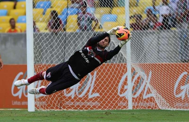 Denis foi titular do São Paulo e falhou no primeiro gol do Fluminense Foto: Rubens Chiri/São Paulo FC/Divulgação