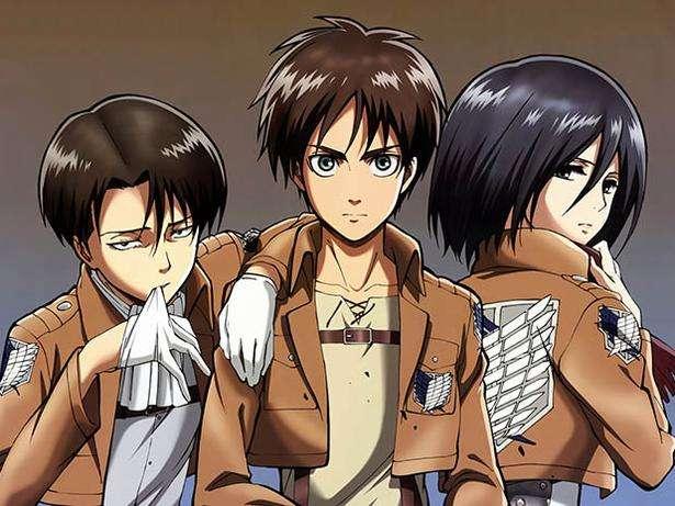 Attack on Titan : Levi, Eren y Mikasa Foto: Difusión