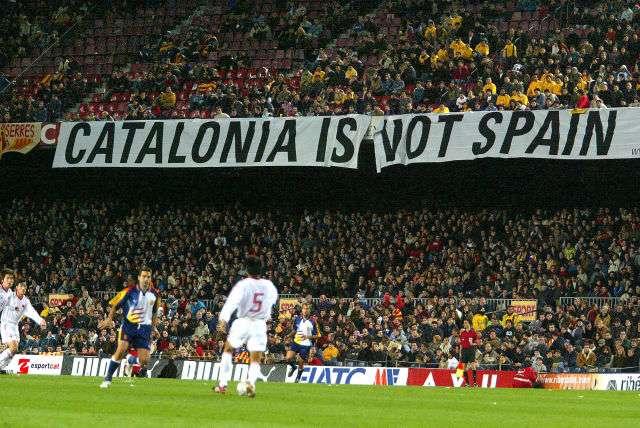 Imagen de un partido de la selección catalana de fútbol Foto: Terra