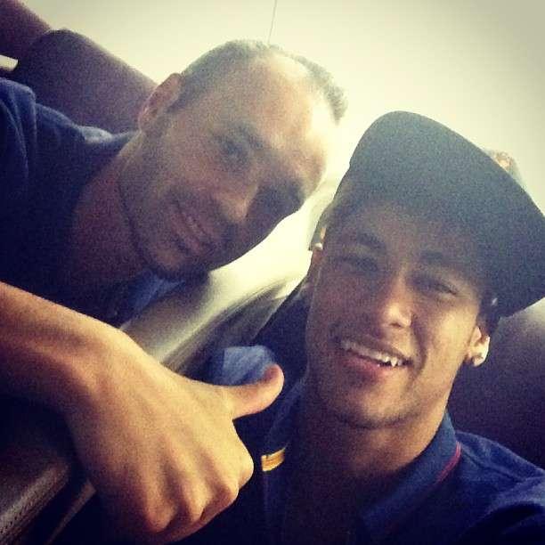 Iniesta e Neymar Foto: Instagram/Reprodução