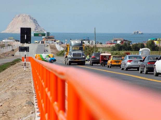 El puente San Pedro se ubica a la altura del kilómetro 31 de la carretera Panamericana Sur. Foto: Municipalidad de Lima/Terra Perú
