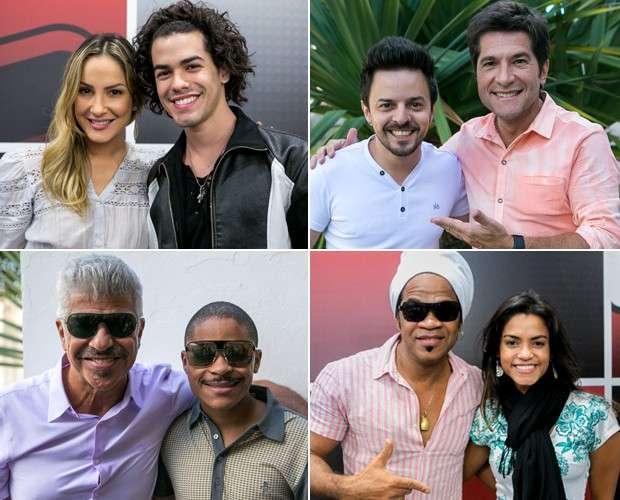 montagem técnicos e finalistas the voice Foto: TV Globo/Divulgação