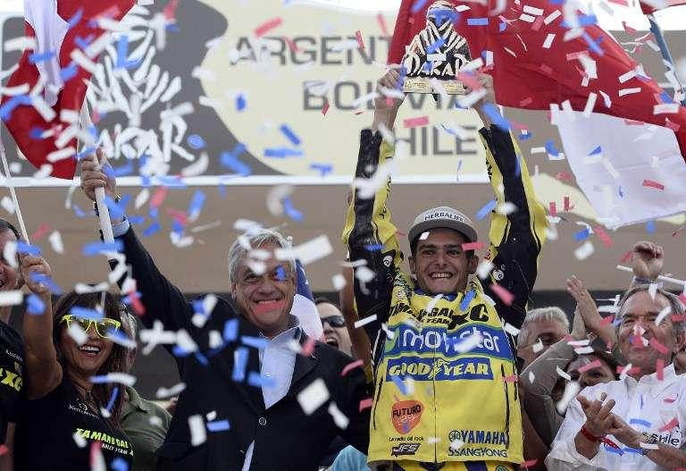 """Casale recibe feliz su """"tuareg"""" de campeón en Valparaíso"""