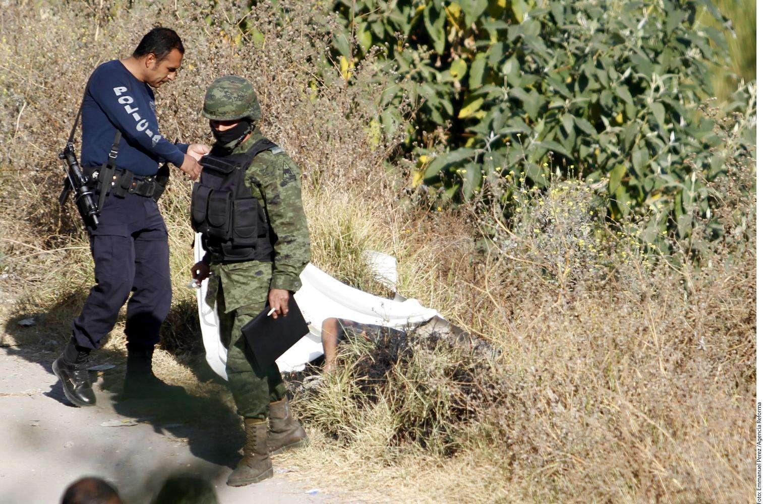 Cadáver calcinado Foto: Agencia Reforma