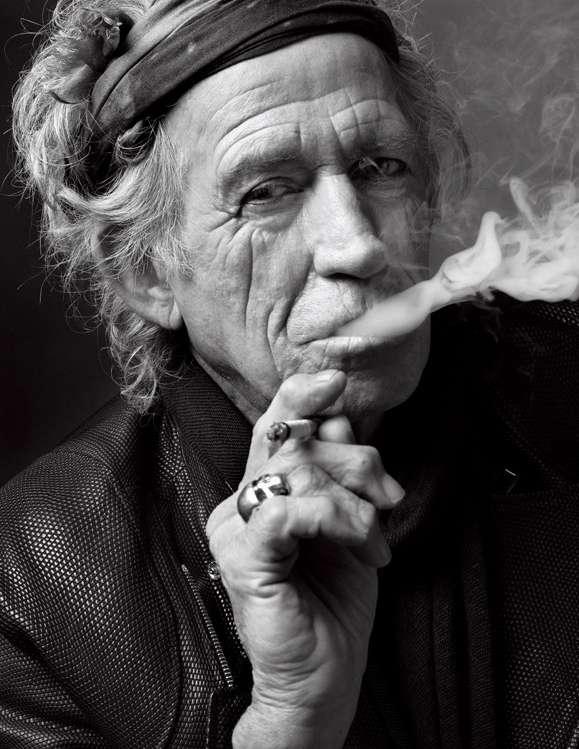 O fotógrafo Mark Seliger está compartilhando o melhor de seu trabalho, os de retratos de celebridades, em uma exposição que vai até fevereiro na galeria Beetles and Huxley, em Londres. Na foto, Keith Richards Foto: Mark Seliger/Beetles + Huxley /Divulgação
