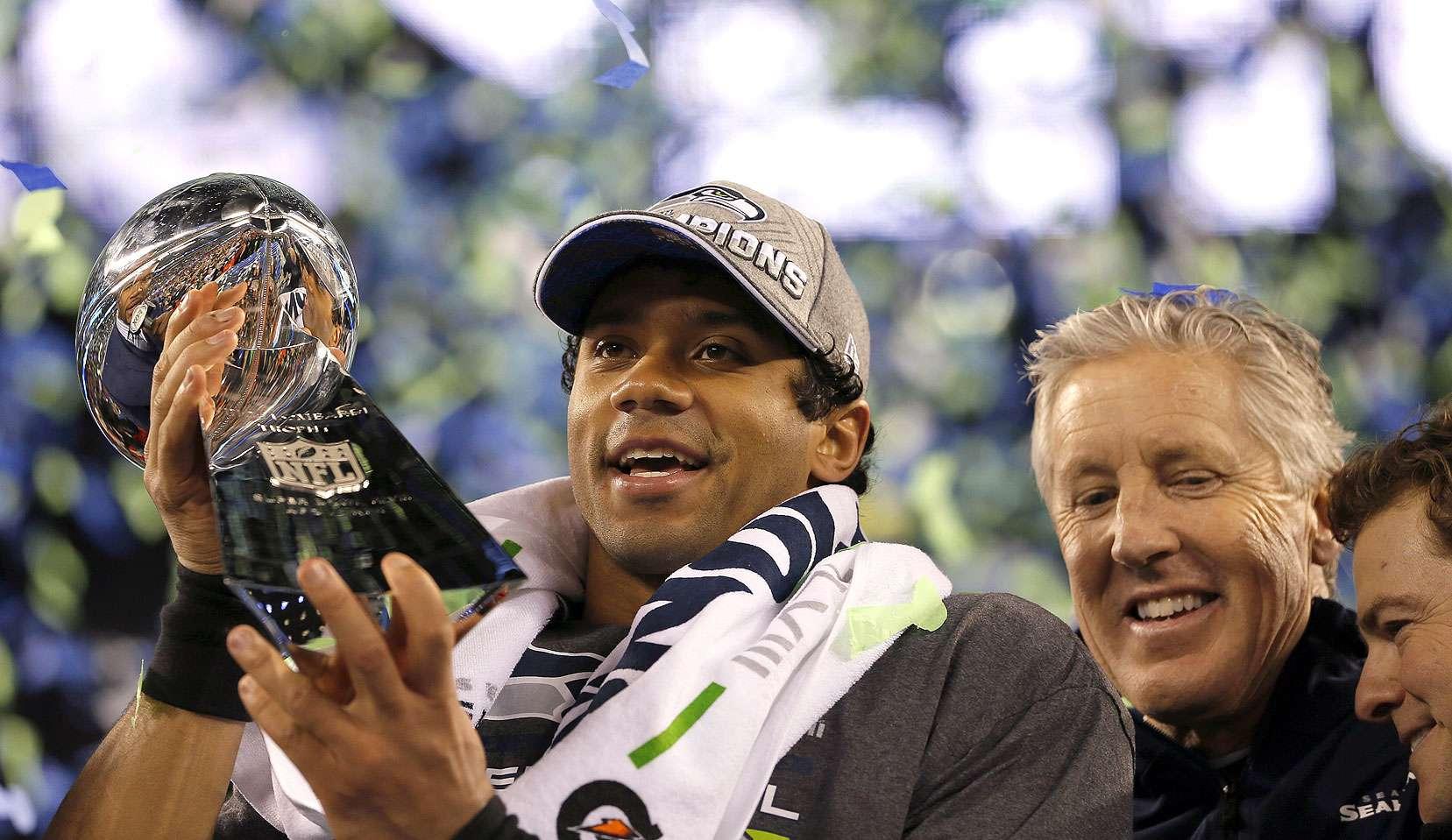 SUPER BOWL XLVIII (2 de febrero de 2014): Seattle Seahawks 43-8 Denver Broncos. SEDE: MetLife Stadium, Nueva Jersey/NuevaYork. MVP: Malcolm Smith (Linebacker). Foto: Kevin C. Cox/Getty Images