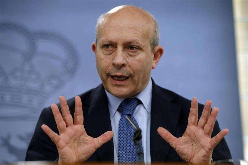 El ministro de Educación, José Ignacio Wer Foto: EFE en español