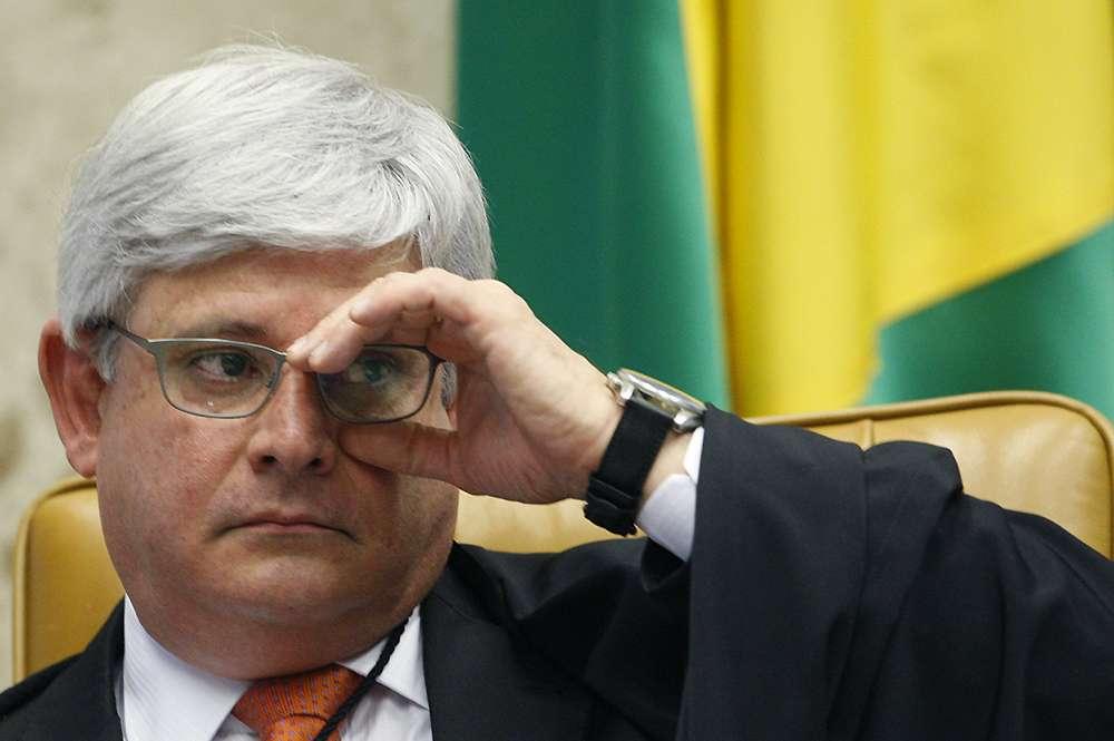 20 de fevereiro - O procurador geral da República, Rodrigo Janot, também estava presente Foto: Nelson Jr. / SCO / STF/Divulgação