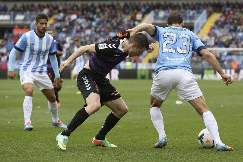 Málaga y Valladolid firman un empate inútil para ambos (1-1)