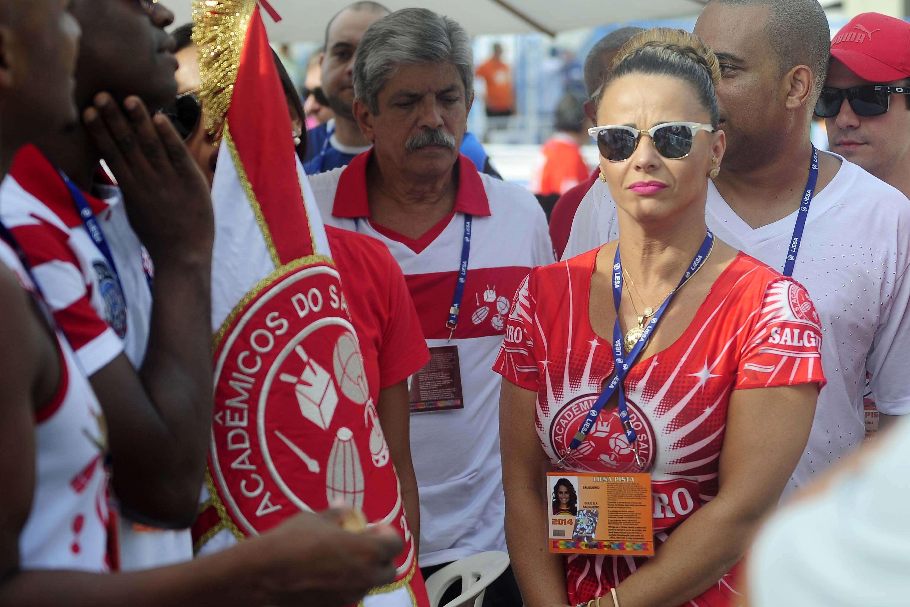 Rainha de bateria do Salgueiro, Viviane Araújo acompanha apuração no Rio Foto: Dhavid Normando/Futura Press