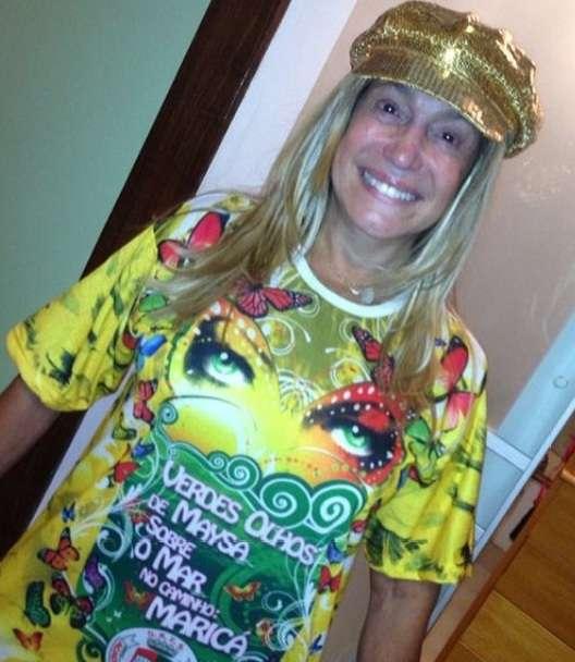 Atriz Susana Vieira comemorou a sexta colocação da Grande Rio no Carnaval 2014 Foto: @susanavieiraoficial/Instagram/Reprodução