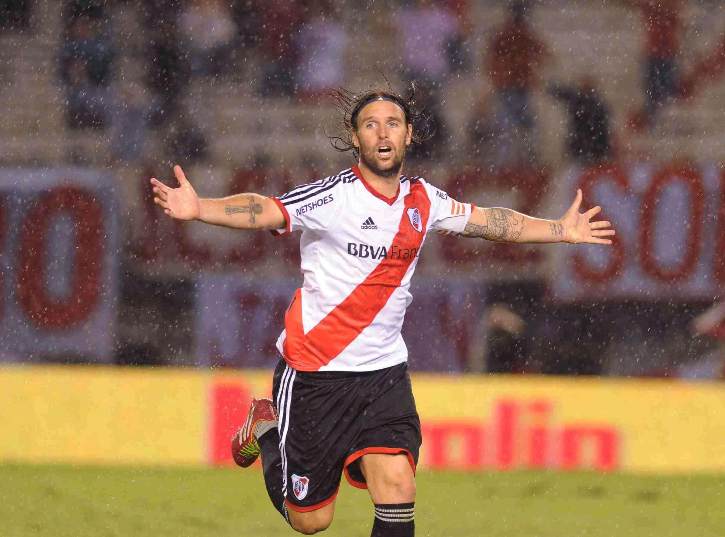 River Plate le ganó a Arsenal de Sarandí por 1-0 en el Monumental. El gol del Millonario lo marcó Fernando Cavenaghi en un penal mal sancionado por el árbitro Pablo Lunati. Foto: Télam