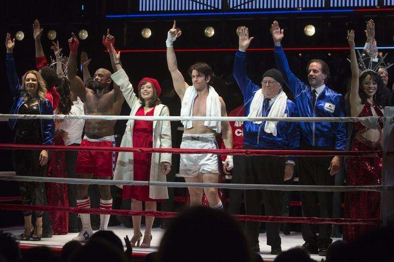 'Rocky' musical packs punch on Broadway with rousing finale
