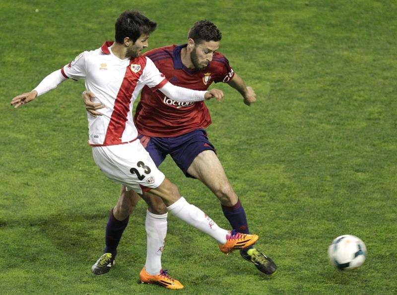 Un Rayo enrachado deja a Osasuna con el agua al cuello (1-0)