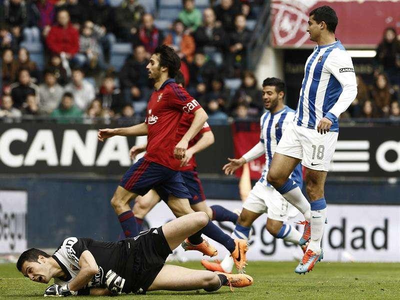 Empate insuficiente para Osasuna y Real en el Sadar (1-1)