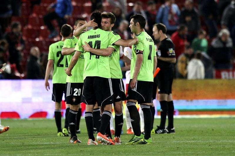Las mejores imágenes del partido entre Almería y Osasuna