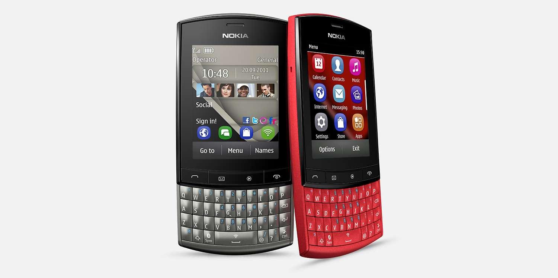 Nokia Asha 303 Celular da Nokia para mercados emergentes, o Nokia Asha 303 possui um estilo similar ao Blackberry, com tela touchscreen de 2.6 GHz e tradicional teclado QWERTY. Foto: Nokia/Divulgação