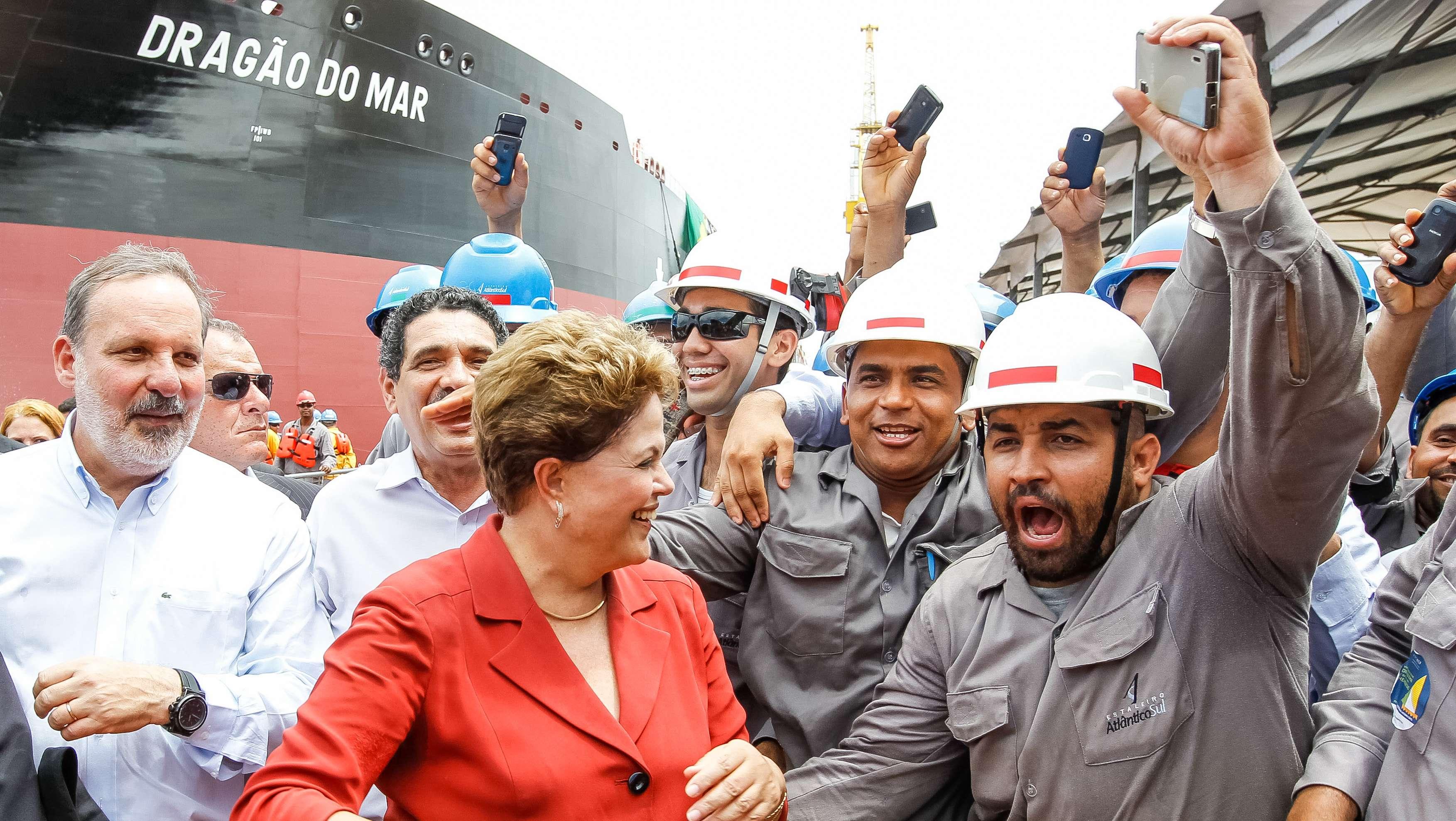 Presidente Dilma Rousseff participa de cerimônia alusiva à viagem inaugural do navio Dragão do Mar Foto: Roberto Stuckert Filho/PR/Divulgação