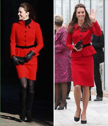 Kate Middleton repete casaco e mostra ar mais sofisticado