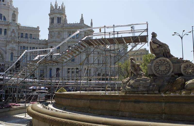 La Cibeles, lista para la celebración si el Madrid gana