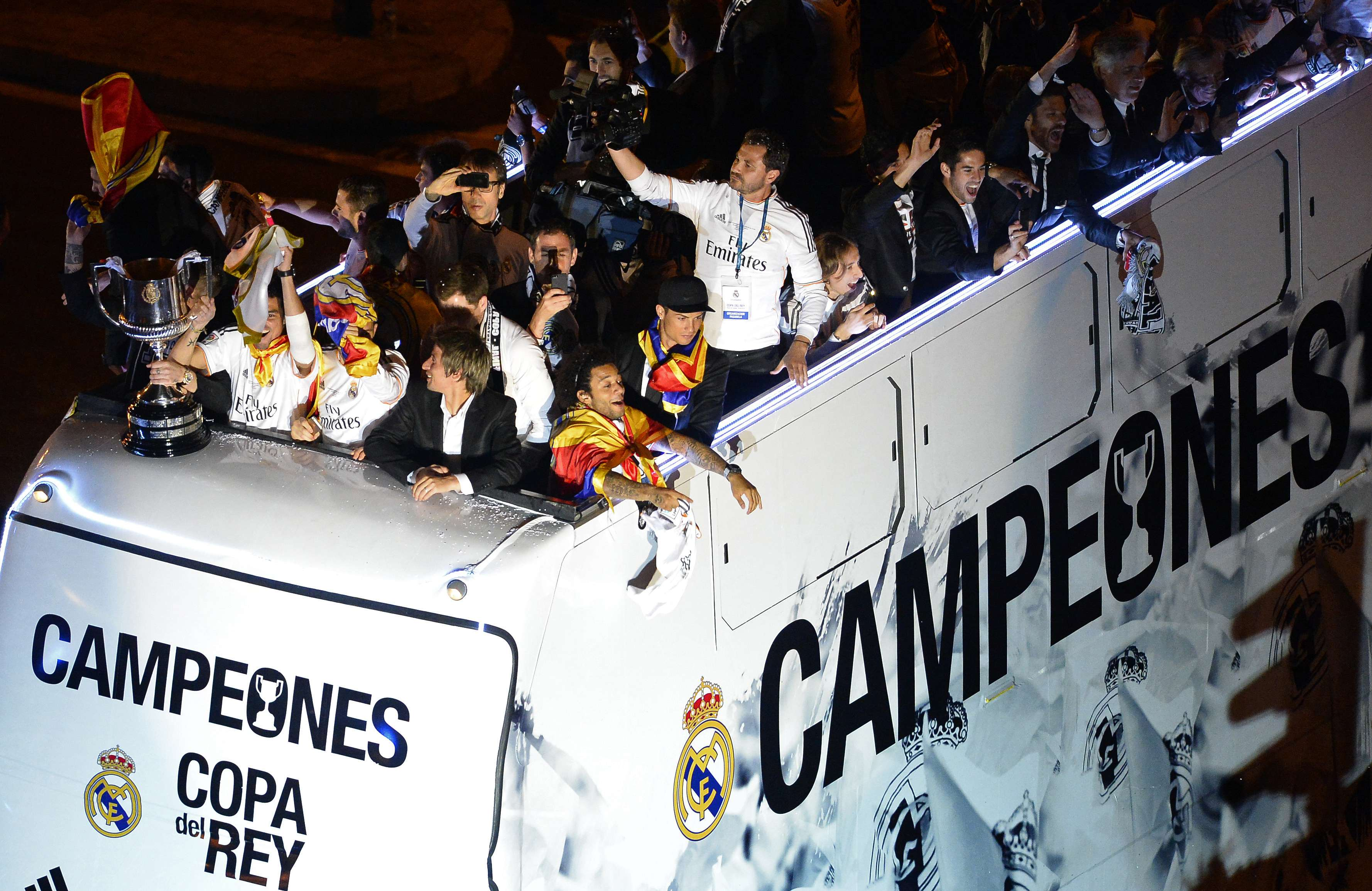 Real Madrid fans, players celebrate Copa del Rey title