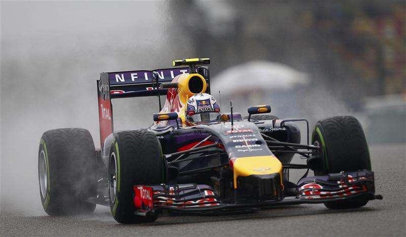 Ricciardo puts Red Bull on top in wet final practice in ...