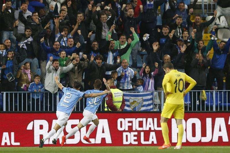 El Málaga será un año más equipo de Primera (2-0)