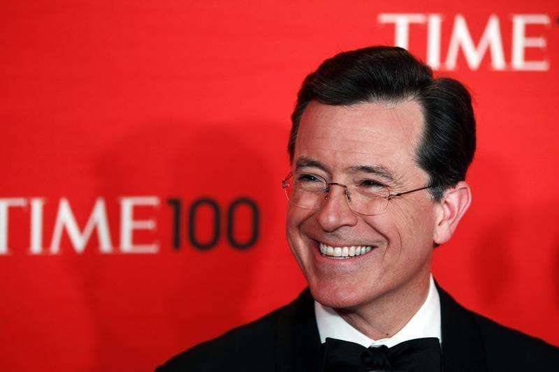 Stephen Colbert pays visit to new 'Late Show' home