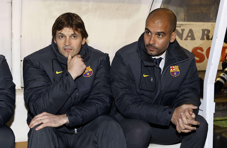 Tras crecer como jugador en la cantera del Barcelona y de ser profesional en el Figueres, el Celta de Vigo, el Mallorca, el Badajoz, el Lleida, el Elche y la Gramanet, Tito colgó las botas en el año 2002 para empezar a entrenar. Después de dirigir en el Cadete B a jugadores como Piqué, Messi o Cesc, se vio inmerso en la reestructuración de la cantera blaugrana llevada a cabo por Joan Laporta en el año 2003, en el que abandonó el club. Sin embargo, en el 2007 regresó como segundo entrenador de Pep Guardiola, que empezó a dirigir al Barcelona B en Segunda División. Foto: Getty Images