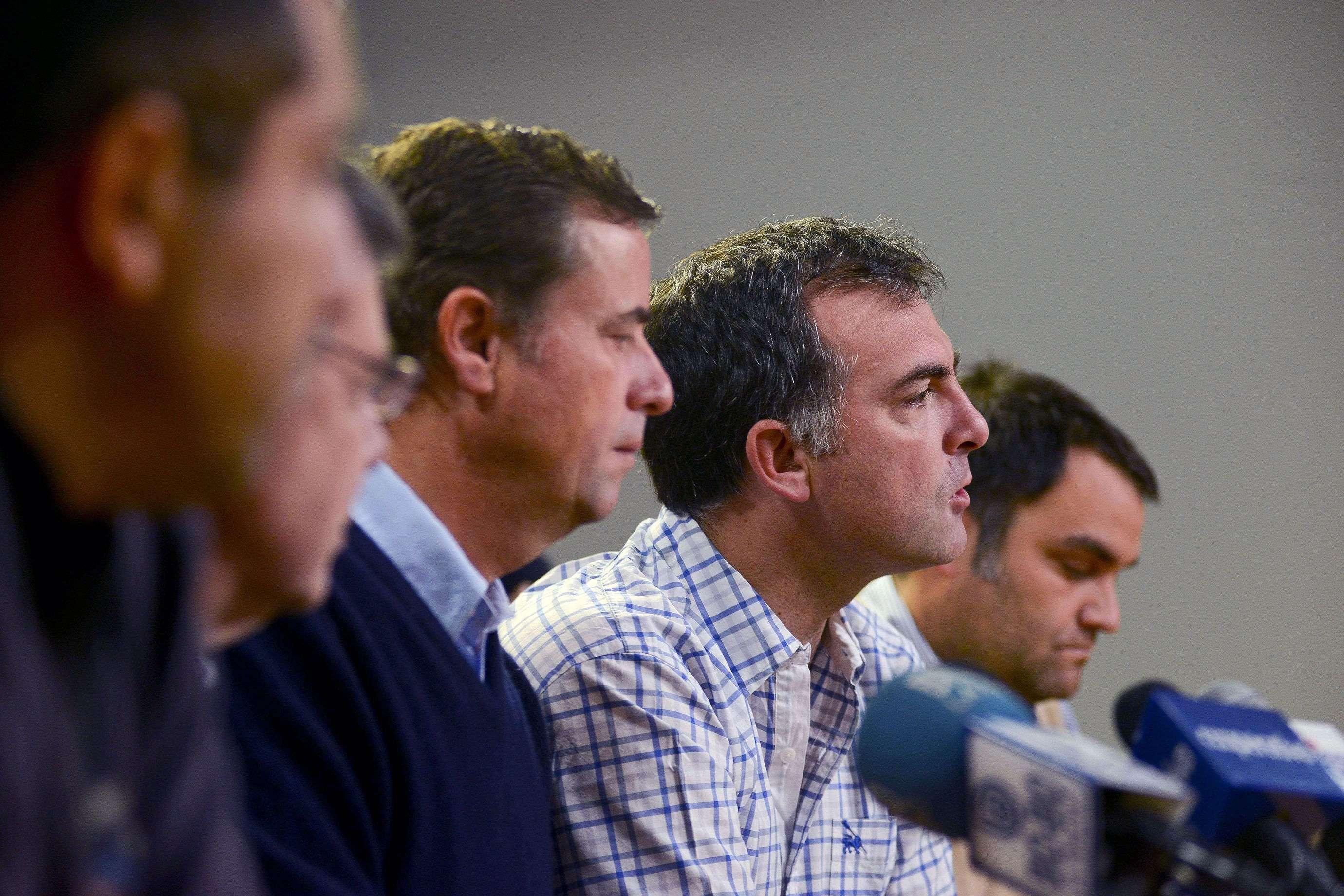 En la Sede UDI el diputado Ernesto Silva recibe apoyo público de destacados militantes gremialistas, en el marco de la competencia interna del partido. Foto: UPI