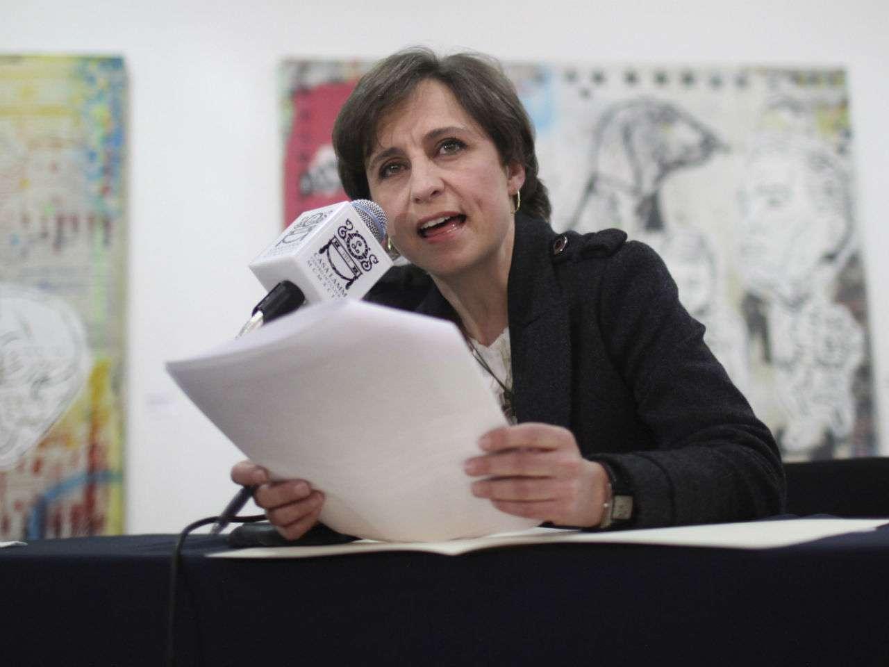 """Según Carmen Aristegui, """"el control y cooptación de medios por autoridades y gobiernos es también parte de la realidad en el país"""". Foto: Archivo/AP en español"""