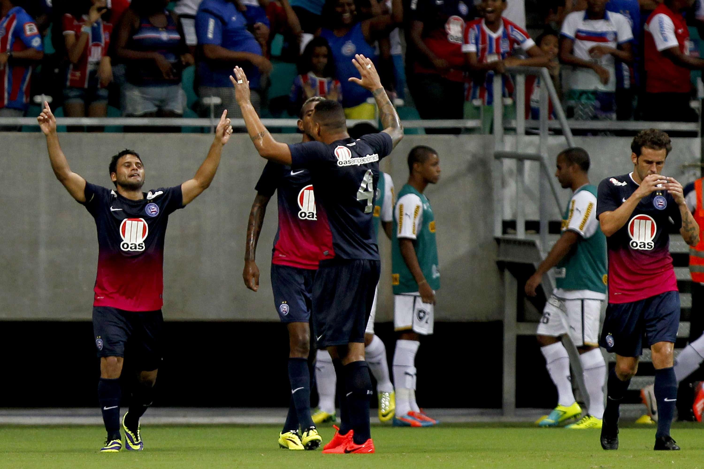 Maxi Biancucchi fez o gol da vitória do Bahia na Fonte Nova Foto: Getty Images