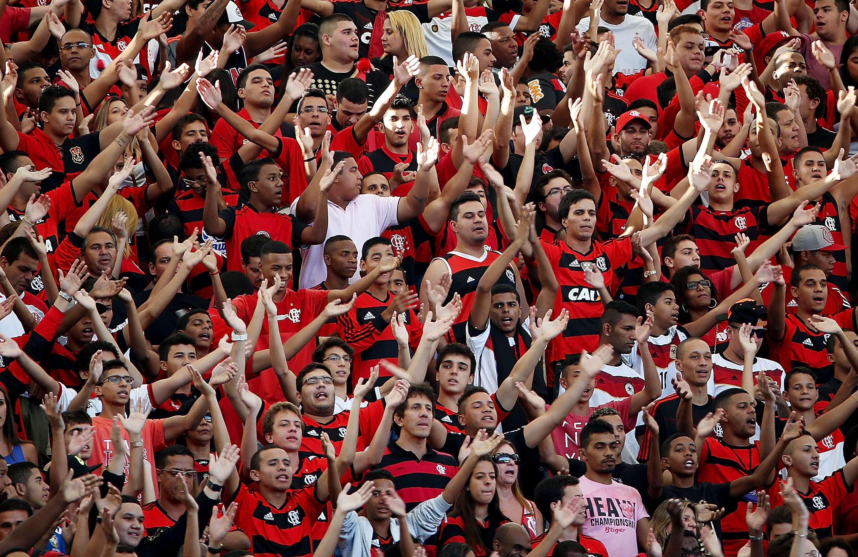 Torcida do Flamengo provocou rivais do Fluminense Foto: Getty Images