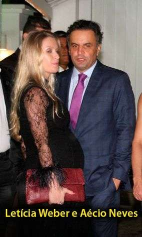 Aécio Neves e a mulher grávida, Letícia Weber Foto: Marcelo Bongongino/JB Online