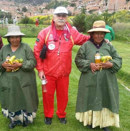 Xabier Azkagorta com as cores da seleção boliviana: o milagreiro Foto: Arquivo Pessoal/Reprodução