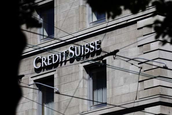 Sede do banco Credit Suisse, em Zurique, na Suíça Foto: Getty