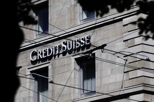Sede do banco Credit Suisse, em Zurique, na Suíça Foto: Getty