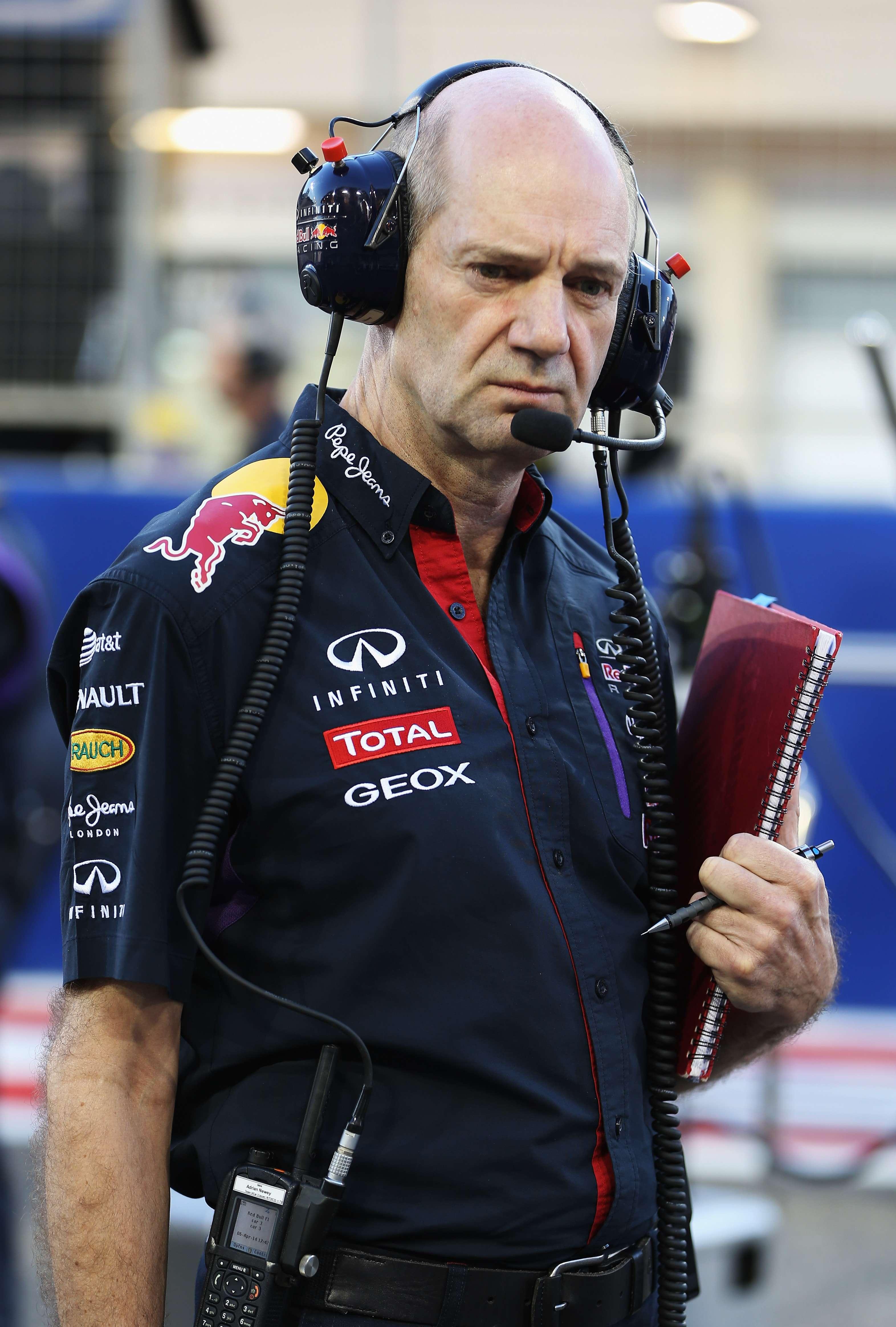 Adrian Newey não pensa em transferência para Ferrari Foto: Getty Images