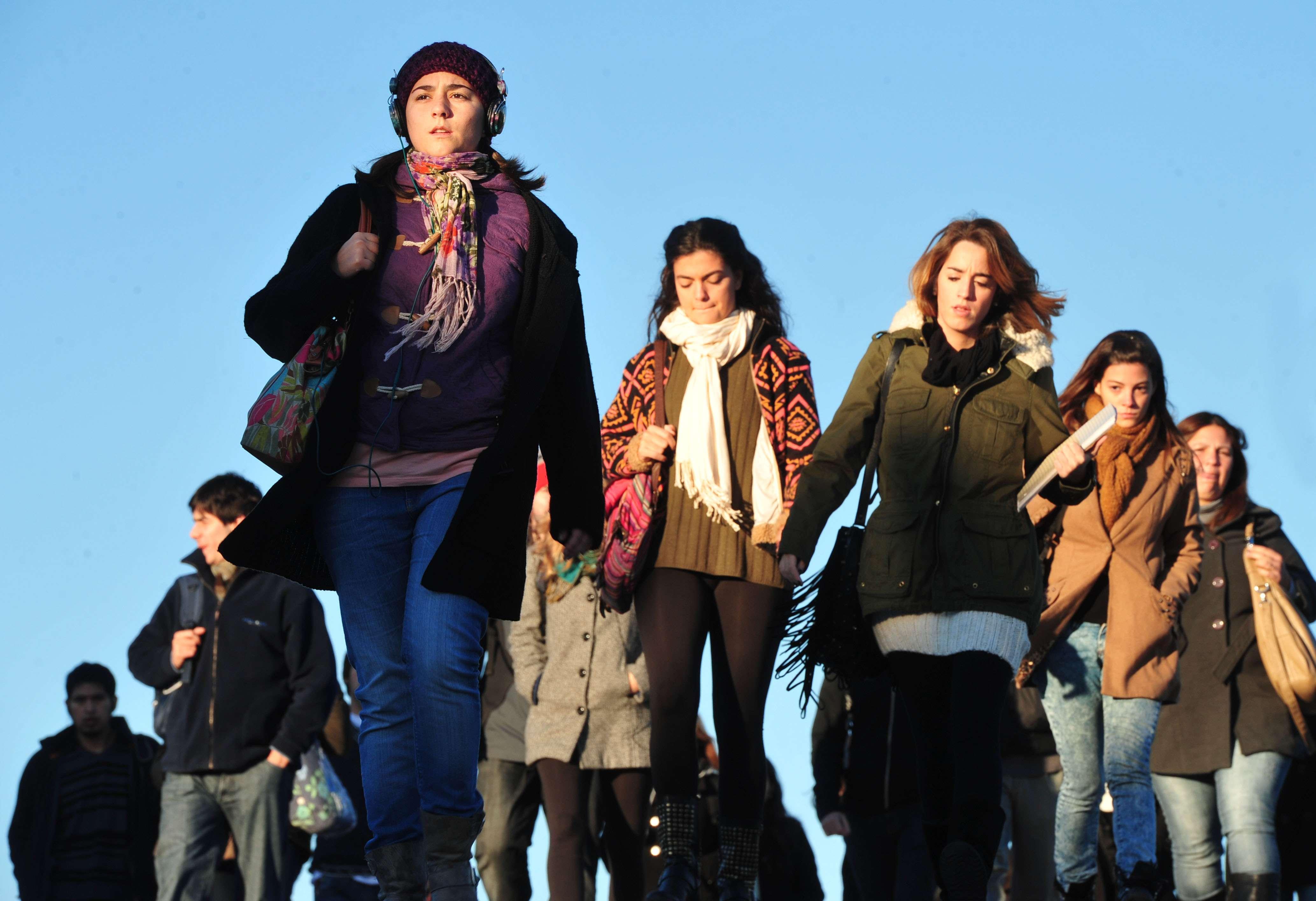 Frío en Buenos Aires Foto: Télam
