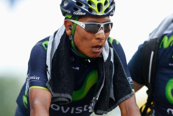 Nairo Quintana se pone la 'maglia rosa' en Val Martello Foto: Getty Images
