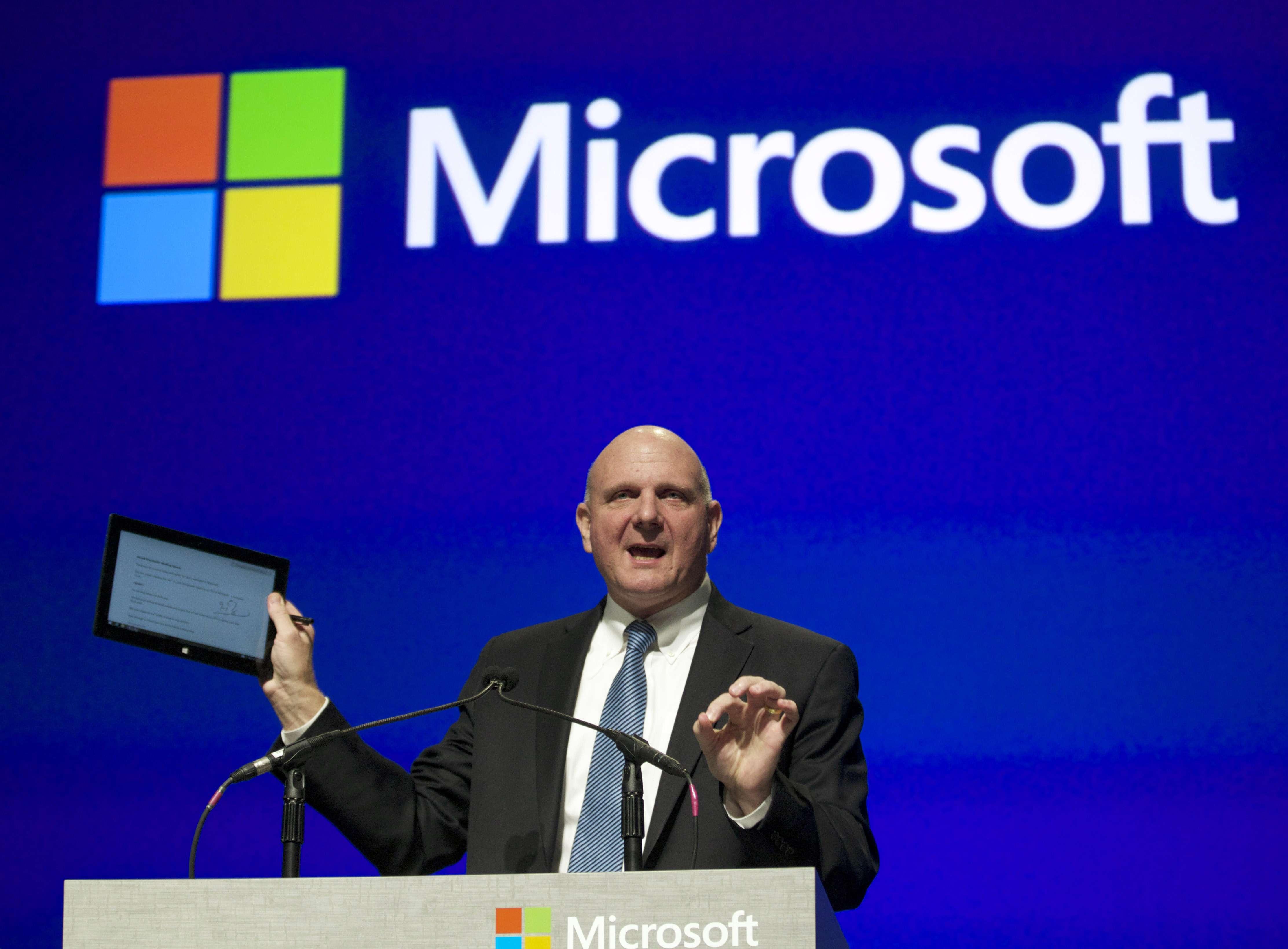 Steve Ballmer deixou a Microsoft em fevereiro deste ano Foto: Getty Images