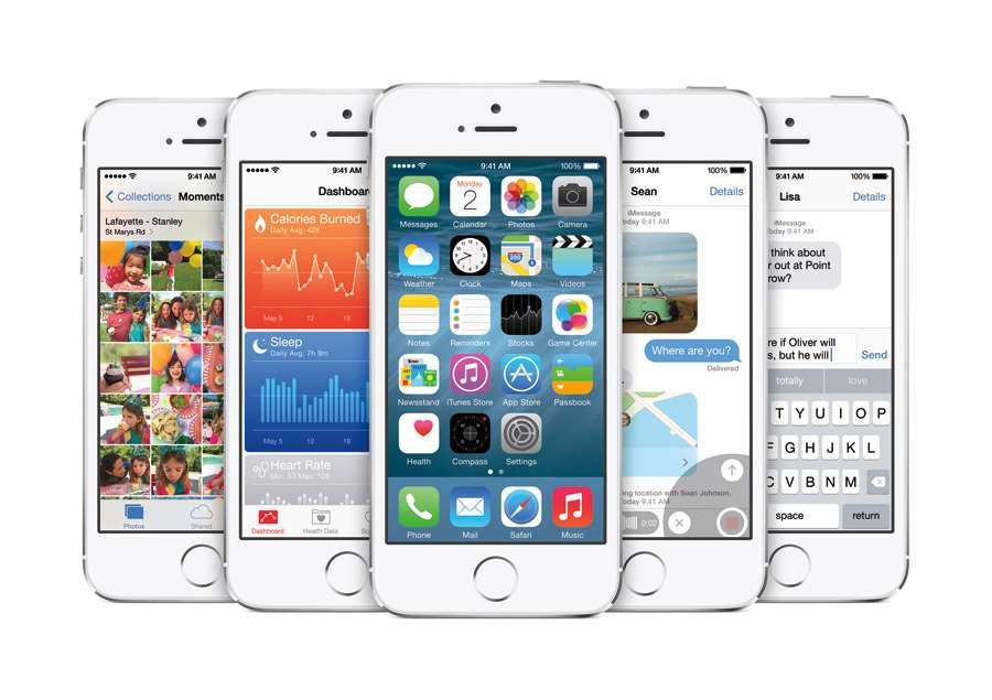 iOS 8, la nueva versión del sistema operativo móvil de Apple. Foto: Apple