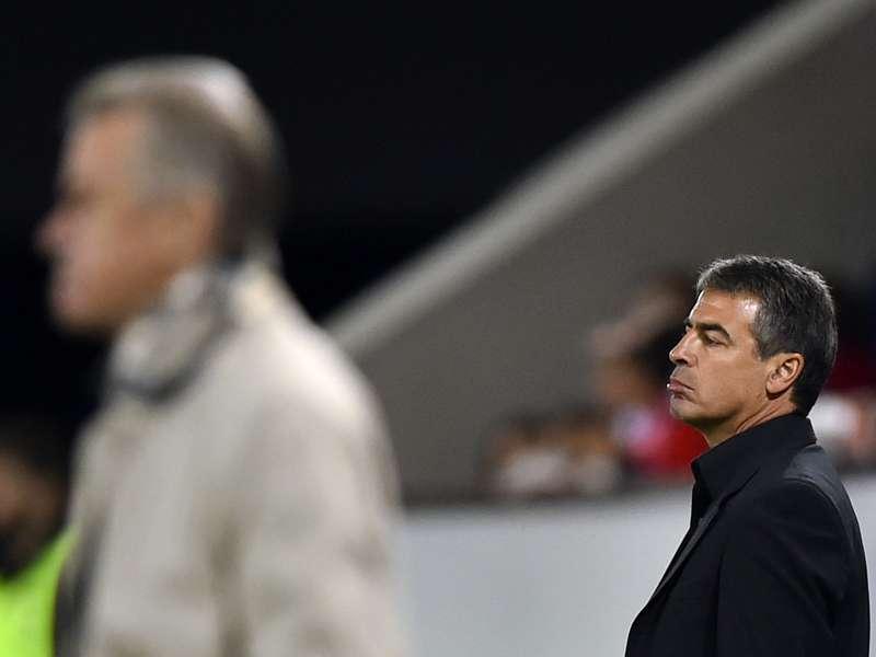 La selección peruana cayó por 2-0 ante Suiza en el Swissporarena de Lucerna, el segundo y último partido de los dirigidos por el uruguayo Pablo Bengoechea en Europa. Foto: AFP