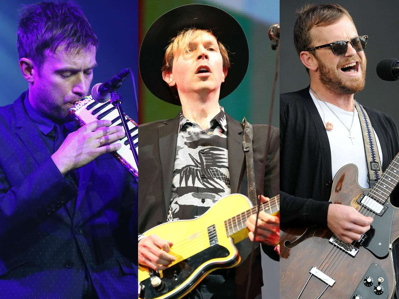 Beck, Kings of Leon, Damon Albarn Foto: Getty Images