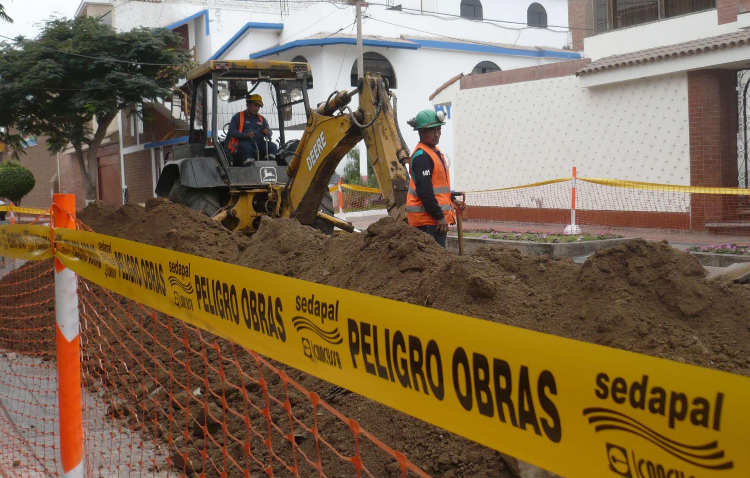 Obras de Sedapal afectará el suministro de agua Foto: Luis Neyra/Terra