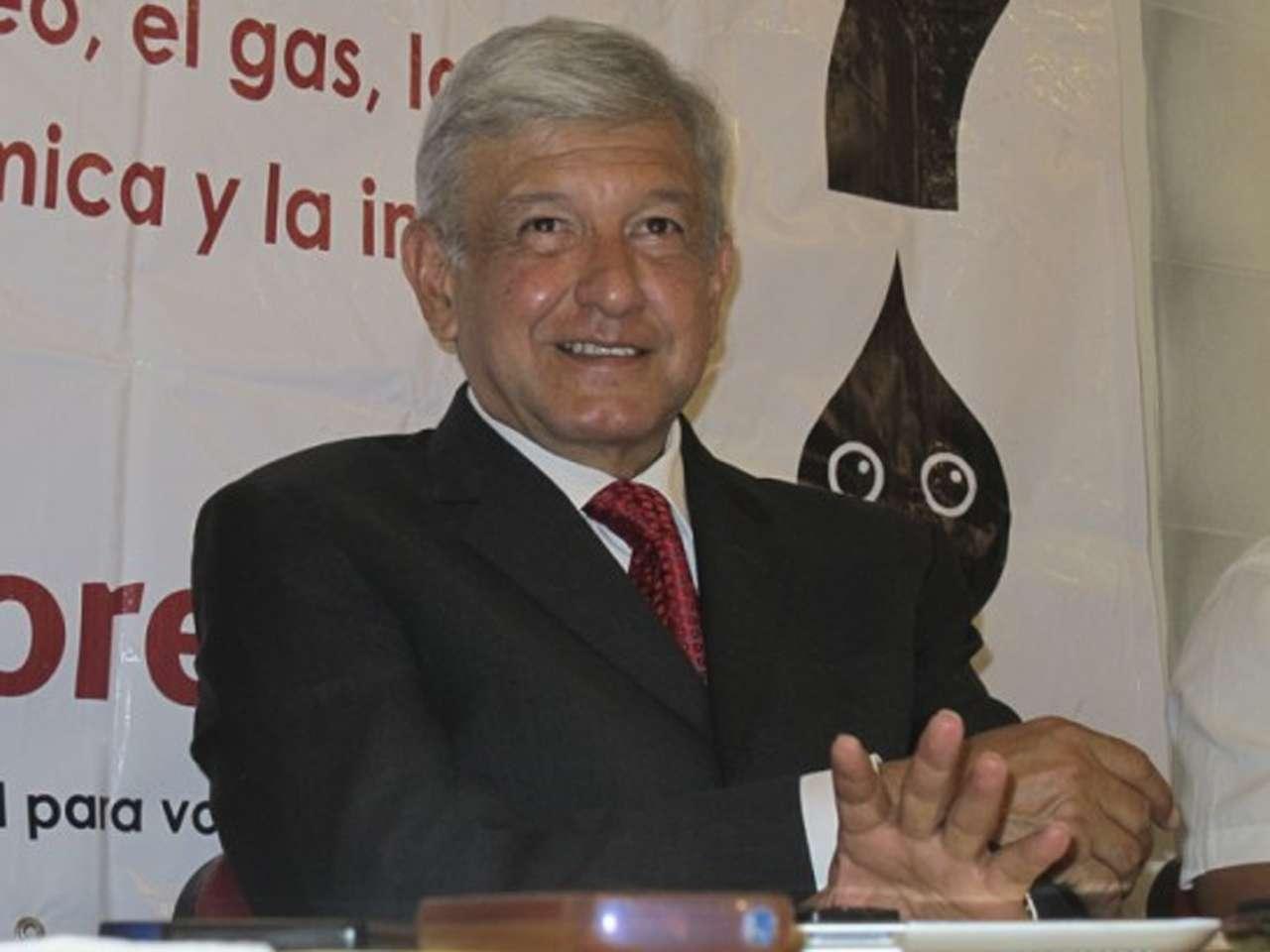 Andrés Manuel López Obrador encabezó la conferencia de prensa Foto: Cortesía MORENA