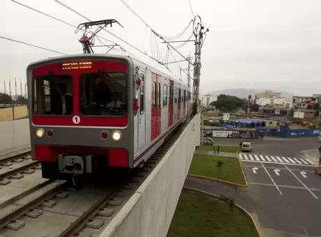 Metro de Lima. Foto: AP