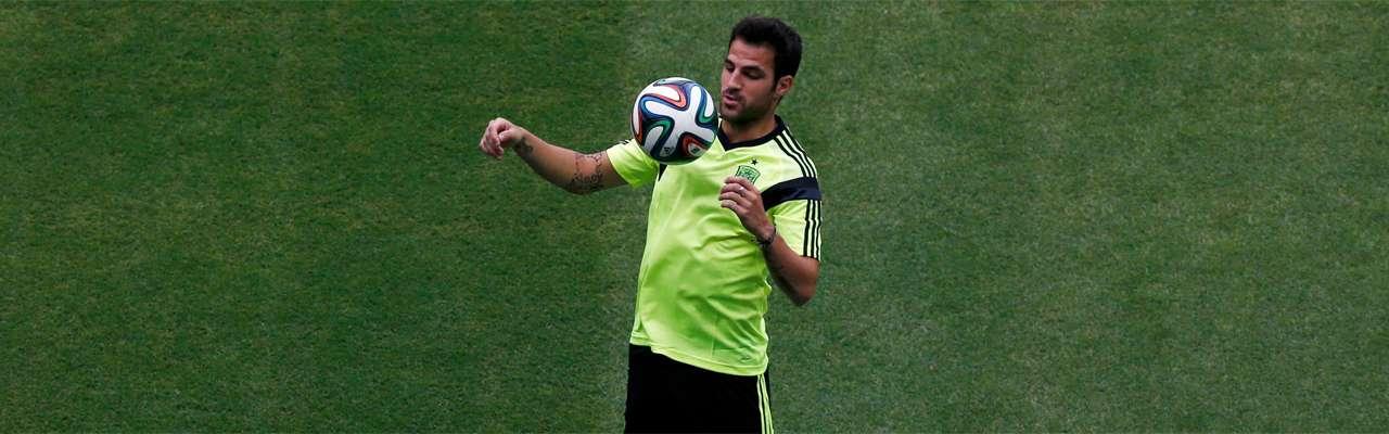Cesc, durante un entrenamiento. Foto: Reuters en español