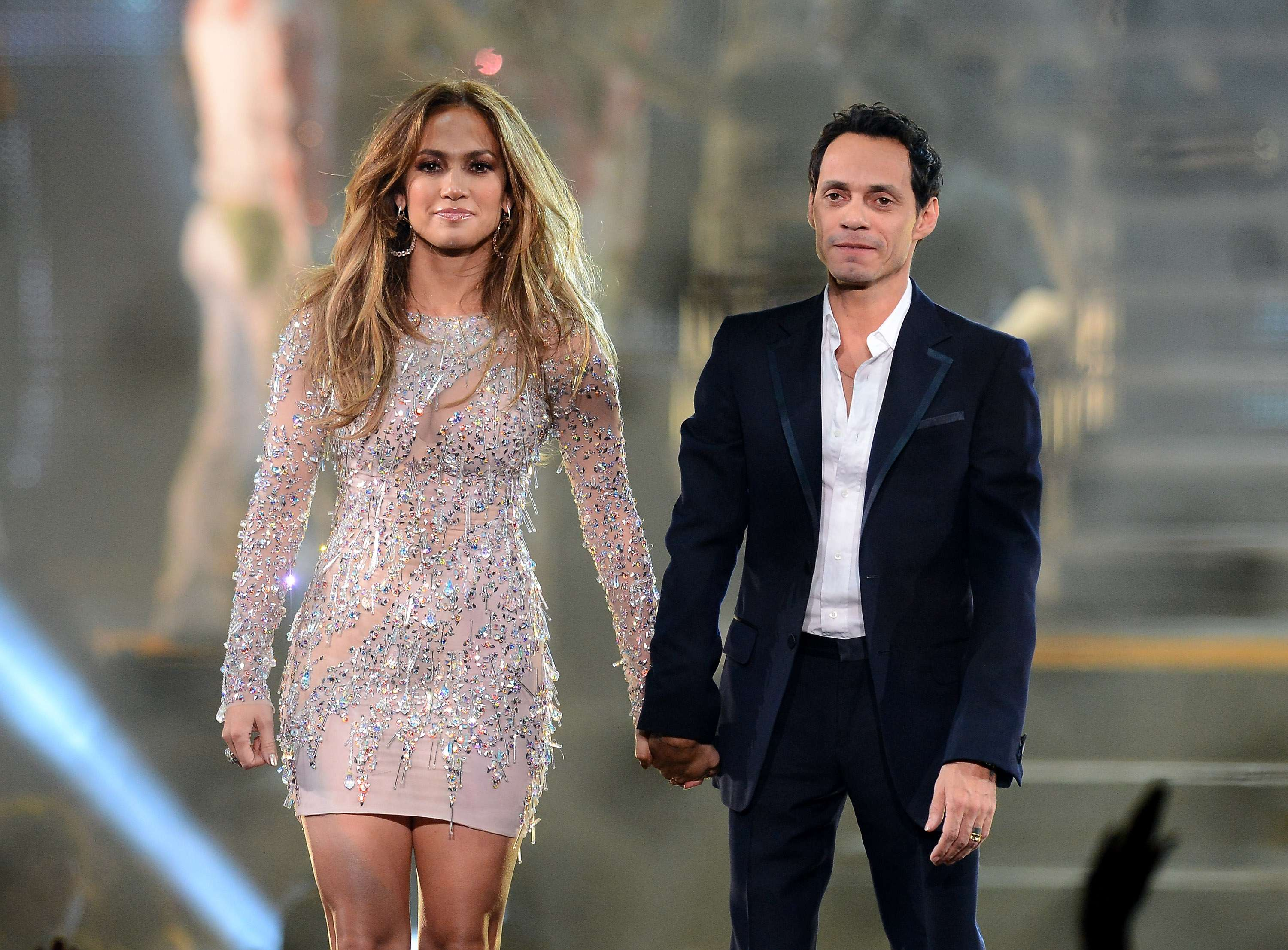 Jennifer Lopez y Marc Anthony. Foto: Getty Images